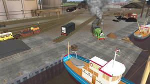 Chaos at Brendam Docks