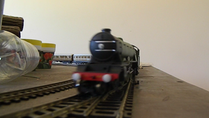 Hornby Flying Scotsman Going By