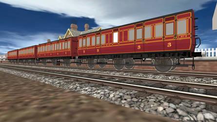 Trainz LMS 6-Wheel Coaches
