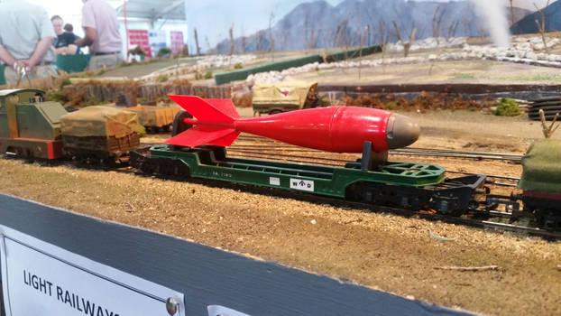 Brisbane Model Train Show: Triang Bomb Transporter
