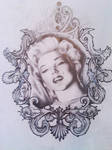 Marilyn Monroe and  filigree