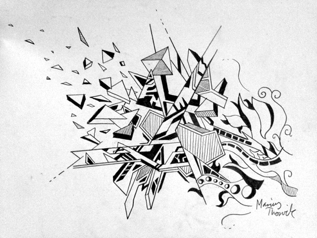 Drawing With Only Straight Lines : Straight lines and curved by martholini on deviantart