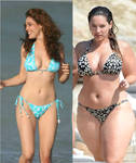 Kelly Brook Before - After