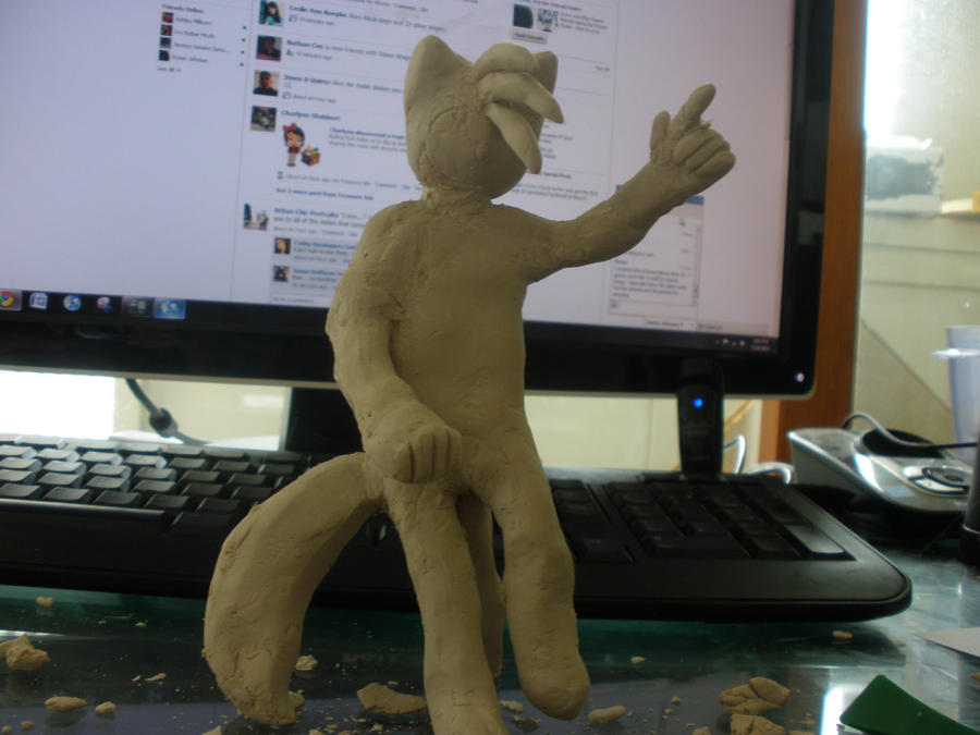 a clay model of paulo from bcb by jetlage300