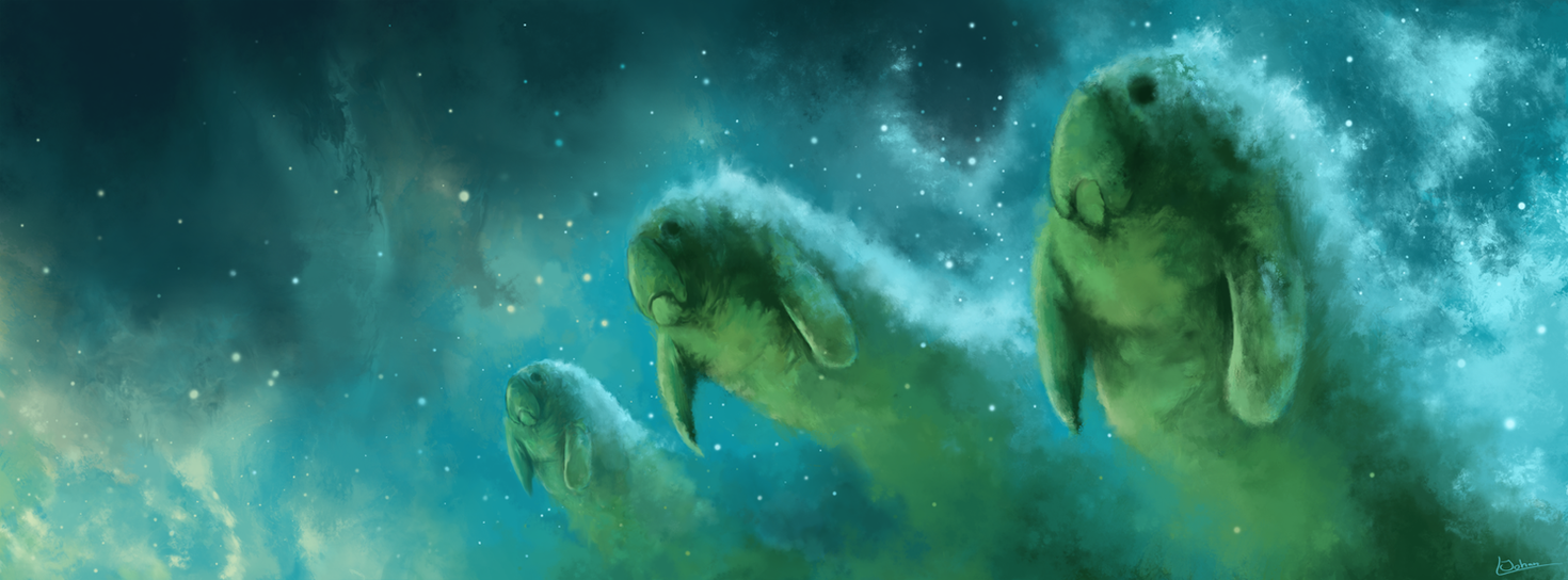 manatee nebula by kubeen on deviantart