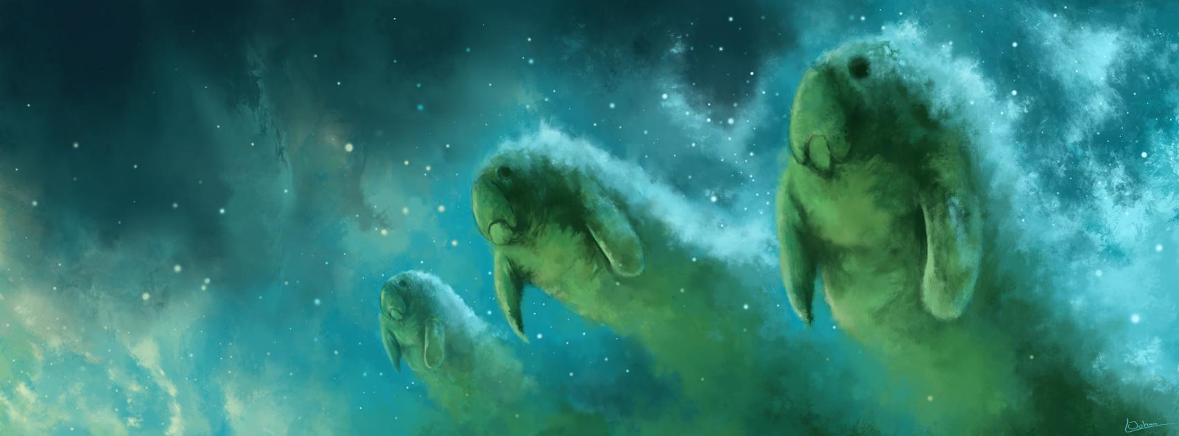 manatee nebula by kubeen on deviantart