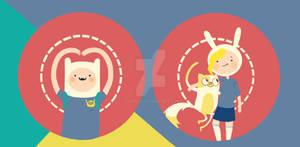 Finn and Fionna pin set