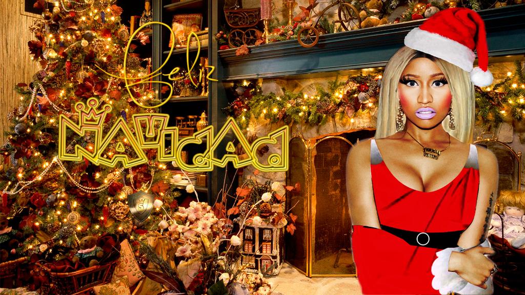 Nicki Minaj Merry Xmas Wallpaper by Sammonsterbitches on DeviantArt