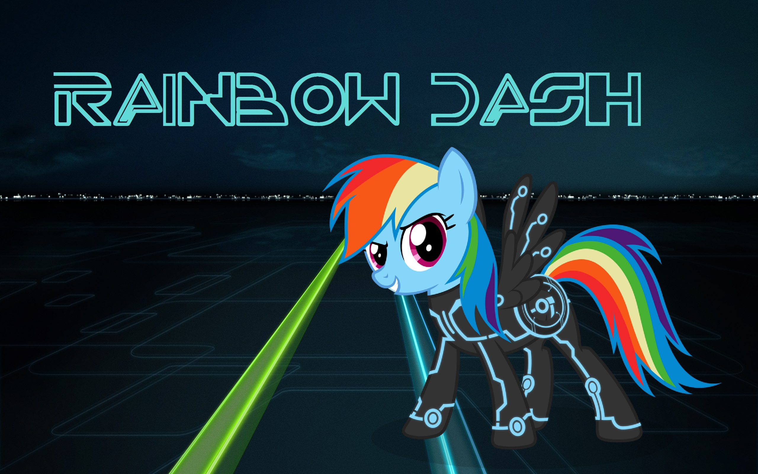Rainbow Dash Tron wallpaper by NesMaster23