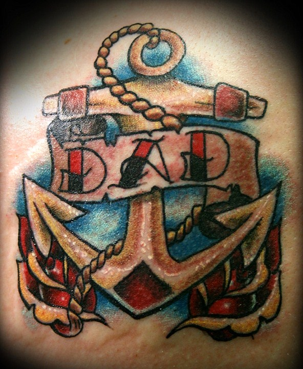 Anchor - shoulder tattoo