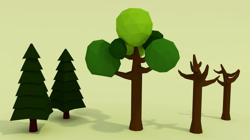 Practicing Low Poly Tree by Lazzarona