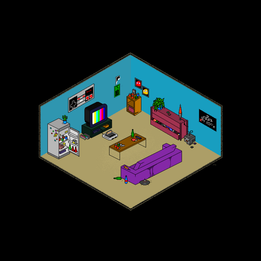 Retro Gaming Room by dsony