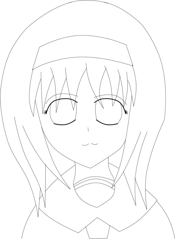 Line Art Face : Ai cute face line art by despisedandbeloved on deviantart