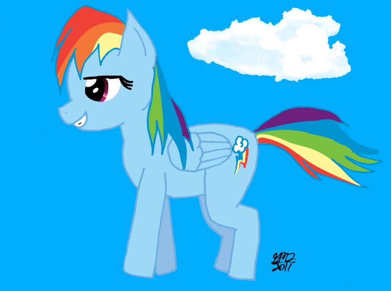 Rainbow Dash Fanart by DespisedAndBeloved