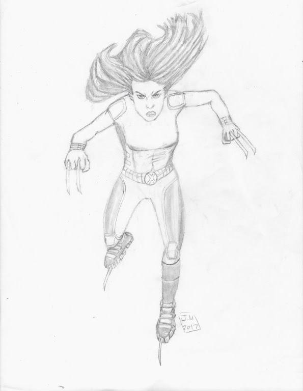 Sketch of X-23 Wolverine by J.N. by EpicNinjaGirlArt-JN