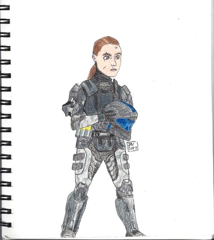 halo Female ODST colored sketch by EpicNinjaGirlArt-JN