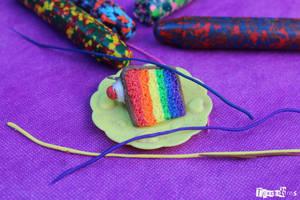 Rainbow cake charm~ by Teacharms