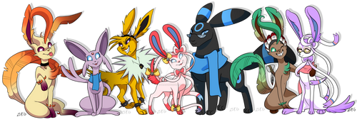 Poke-Commission Lunerian Group Picture.