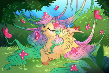 Fluttershy - MLP Re-design Concept Art. by Dragonfoxgirl
