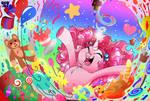 Pinkie Pie - MLP Re-design Concept Art. by Dragonfoxgirl