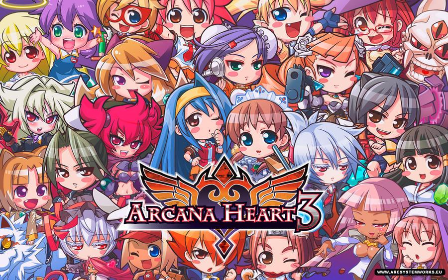 Arcana Heart Chibi Wallpaper by ZenUnited