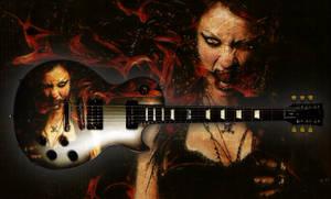 Courtney Flame Guitar - Les Paul Futura JGS -