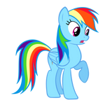 Surprised Rainbow Dash