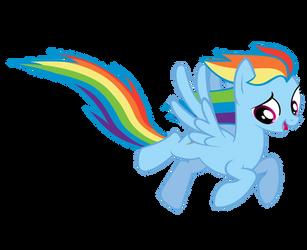 A Flying Rainbow Dash by jonnydash
