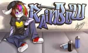 Rainbow graffitti
