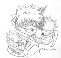 Chibi Sketch CM: Bakugou by JevsterChester