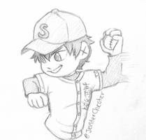 Chibi Sketch CM: Eijun by JevsterChester