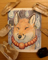 Kitsune ACEO- Sale or Trade by cloudstar-wolf