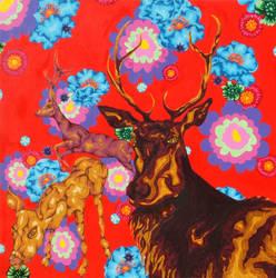 Reindeer Dreaming by Rindaewen