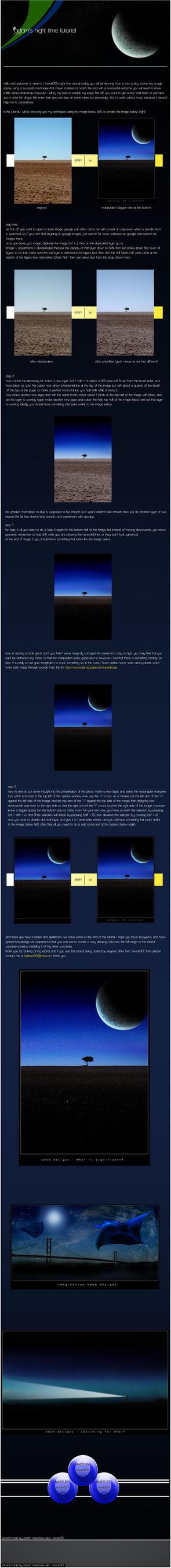 night time tutorial by revan001