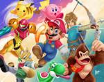 Super Smash Bros Starters! | NintenDrawing