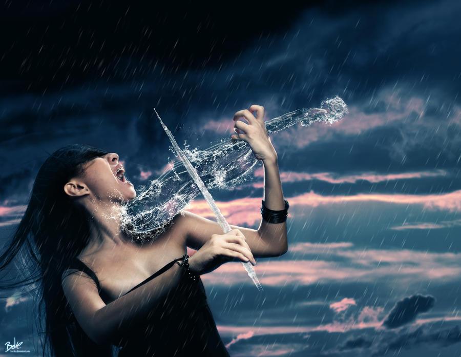 Water Violin by B-O-K-E