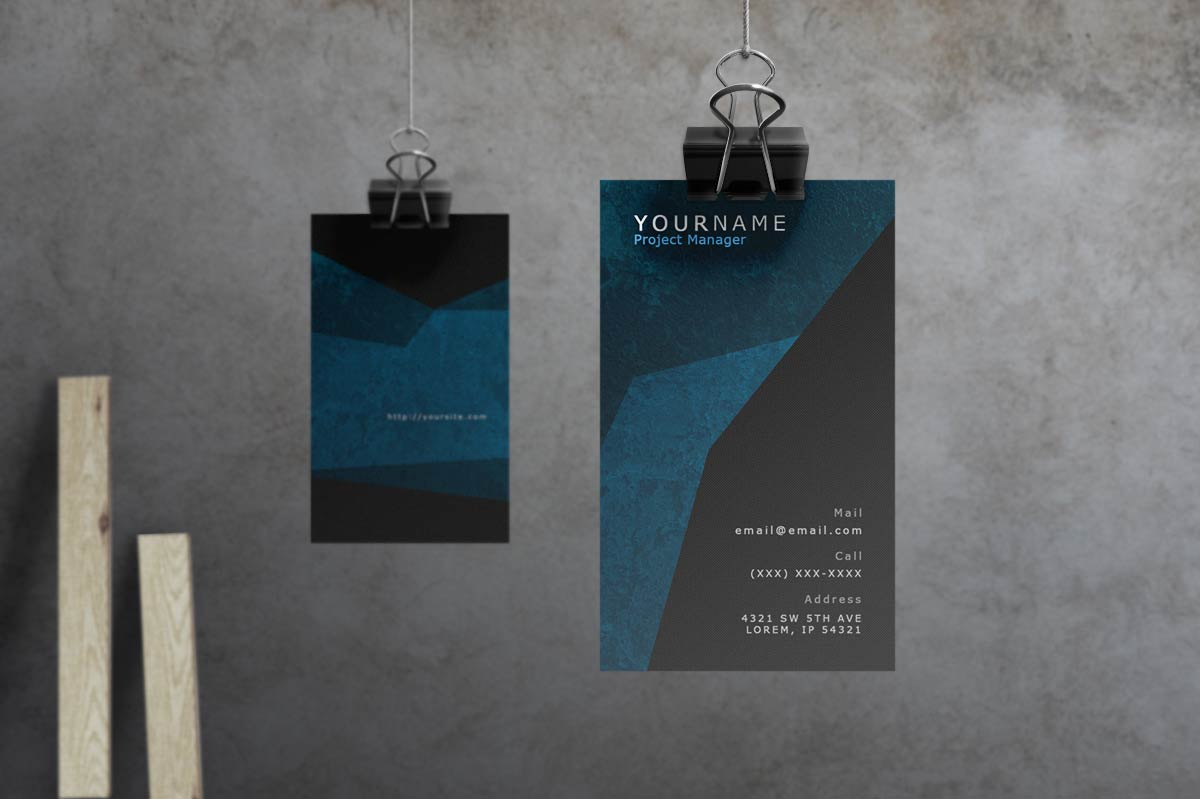 Spade - Modern Grunge Business Card by macrochromatic