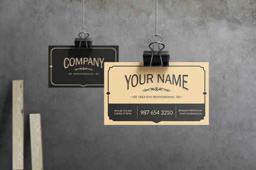 Yukon - Old Style Vintage Business Card by macrochromatic