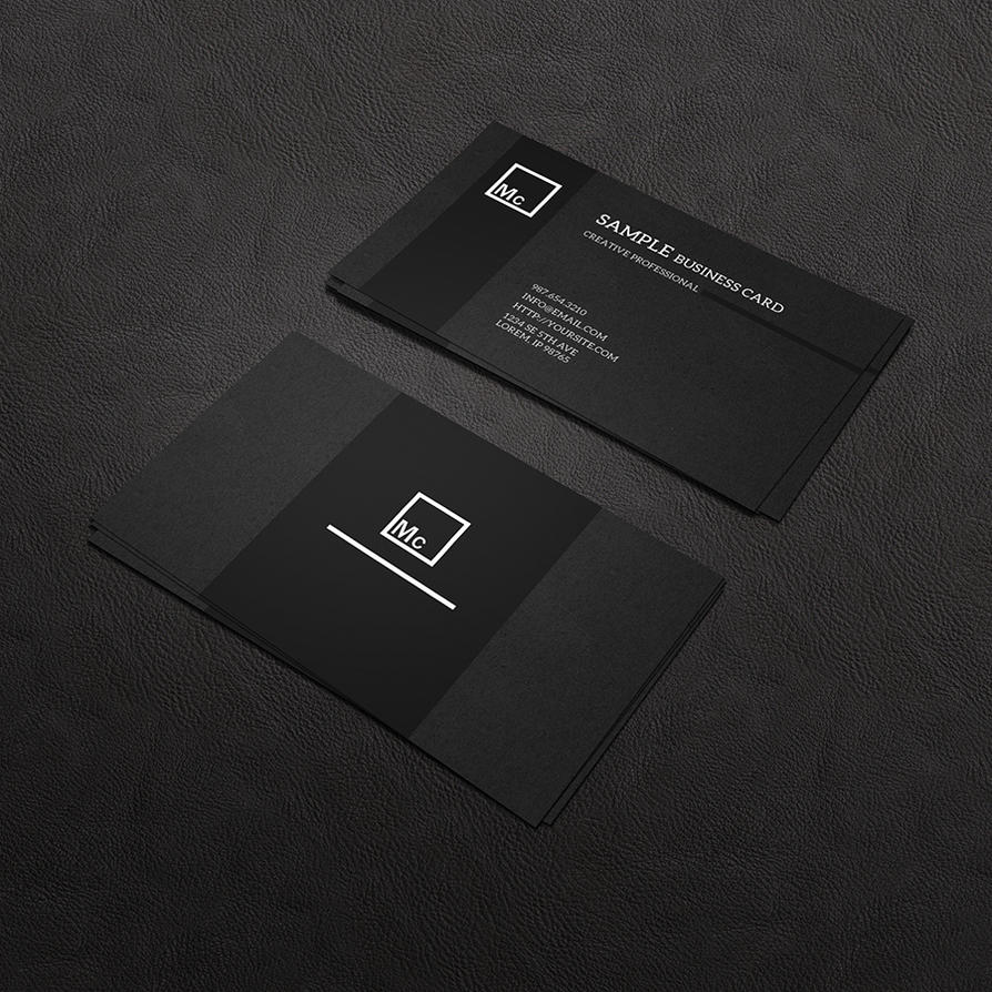 Business Card Mock Up 1 by macrochromatic on DeviantArt