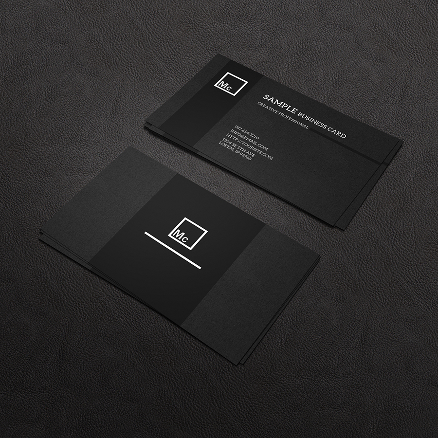 Free Business Card Mock-up by macrochromatic on DeviantArt