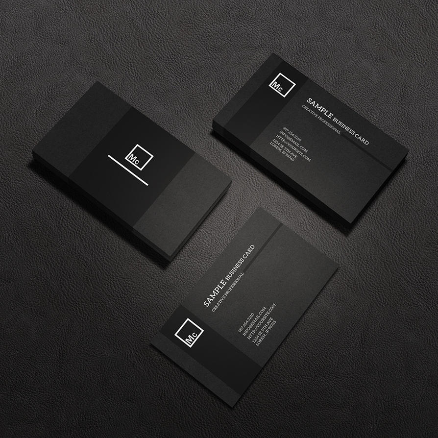 Business Card Mock-Up 2 by macrochromatic on DeviantArt