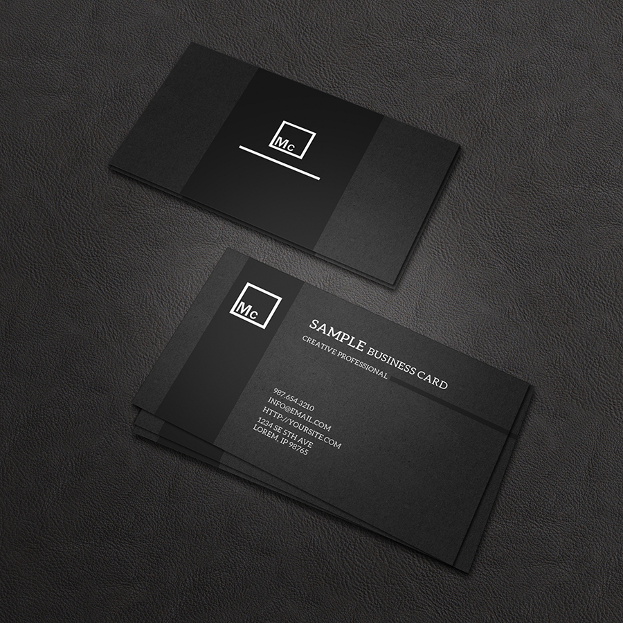 Business Card Mock-Up 4 by macrochromatic