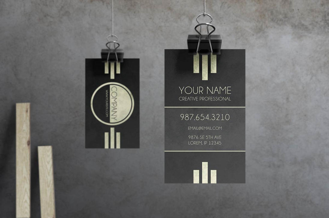 Caveat - Art Deco Business Card by macrochromatic on DeviantArt