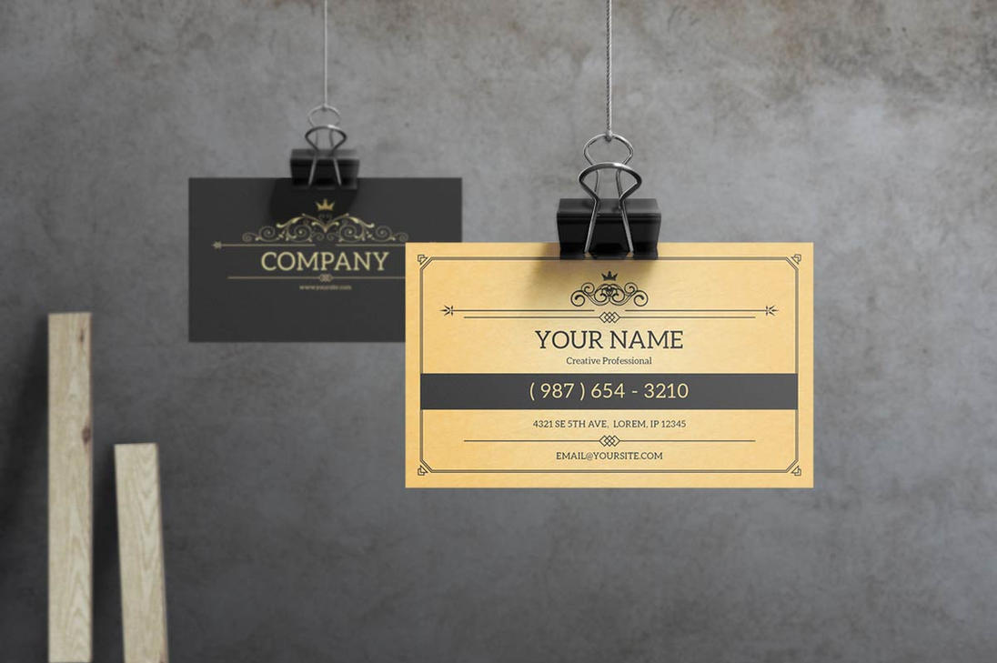 York Vintage Business Card Template By Macrochromatic On DeviantArt - Vintage business card template