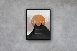 Geometric Concert  - Flyer / Poster Template by macrochromatic