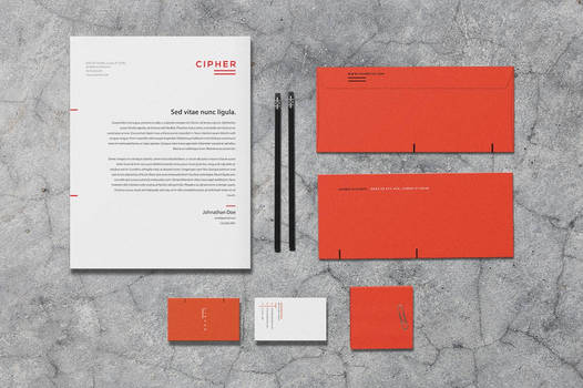 Cipher - Stationery Template by macrochromatic