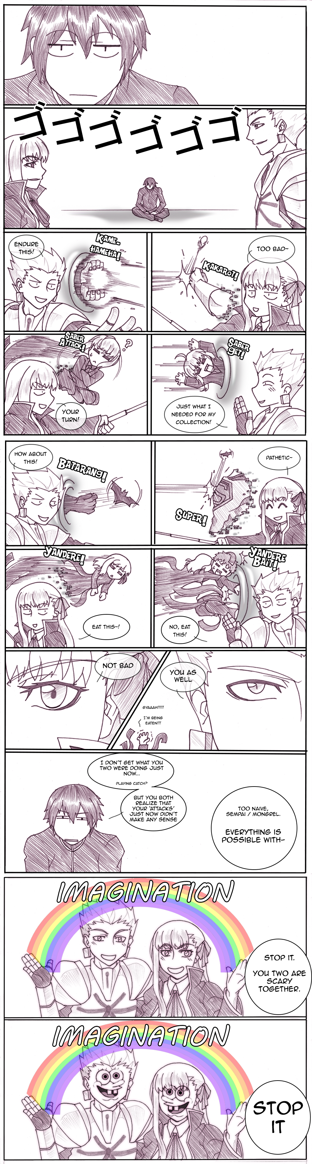 Fate - Cheater And Cheater by yumekage