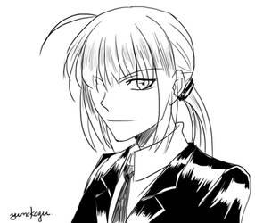 Sketch - Saber 01 by yumekage