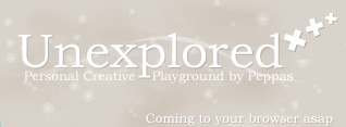 Unexplored coming soon logo by peppas