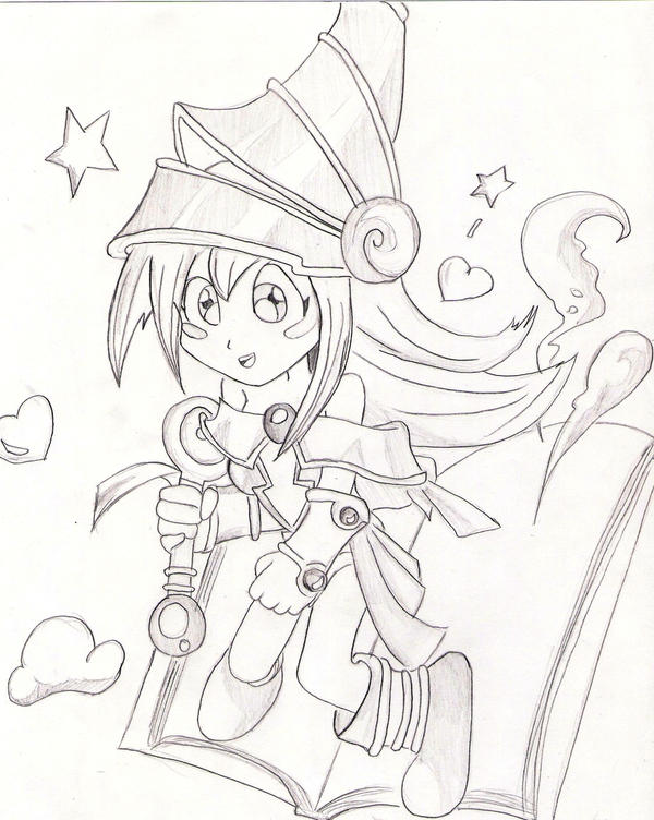 dark magician girl coloring pages - photo#25